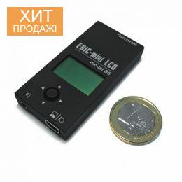 Цифровой мини диктофон «Edic-mini LCD B8-300h» с ЖК-дисплеем и мононаушником