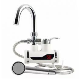 Проточный электрический кран-водонагреватель с душем (с задней подводкой)