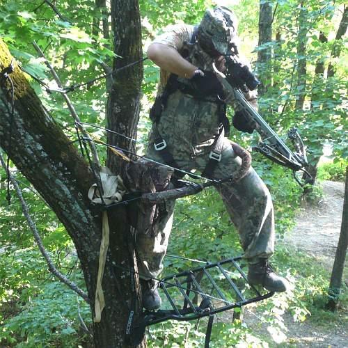 Лабаз, самолаз для подъема на дерево