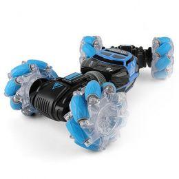 Трюковая машинка-перевертыш «Skidding Car Blue» с управлением жестами