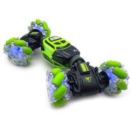 Трюковая машинка-перевертыш «Skidding Car Green» с управлением жестами