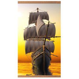 Настенный инфракрасный пленочный обогреватель «Домашний очаг» с картиной корабля