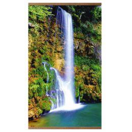 Настенный инфракрасный пленочный обогреватель «Домашний очаг» с картиной водопада