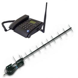 Стационарный сотовый GSM телефон «Dadget MT3020 New Black» с внешней антенной