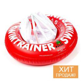 Надувной детский круг для плавания «SwimTrainer Classic» (красный)